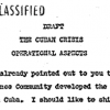 Cuban Missile Crisis Operational Aspects