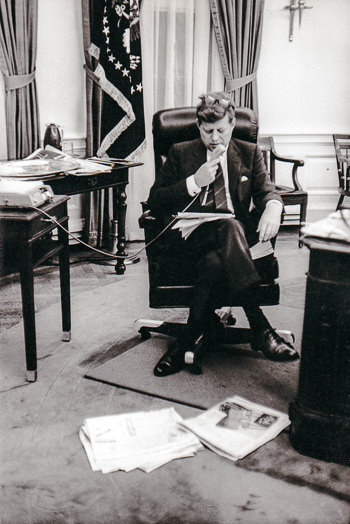 jfk in oval office. JFK Dictaphone Oval Office - Photo By Jacques Lowe Jfk In D