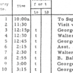 LBJ appointment diary