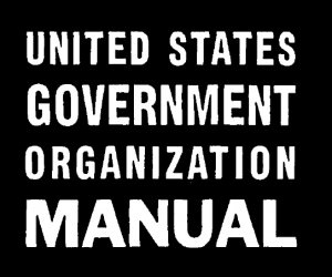 US Govt Manual Cover